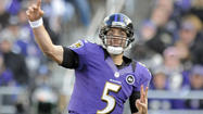 Don't expect to see a glove on Joe Flacco's throwing hand anytime soon