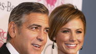 So now Stacy Keibler and George Clooney aren't just dating -- they're collaborating.