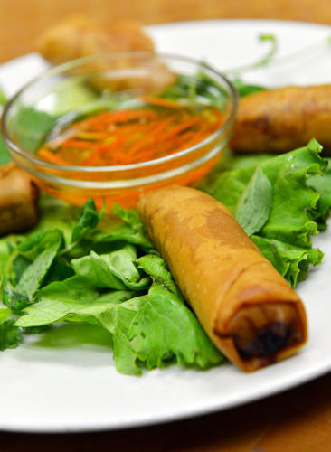 Cha Gio, a fried spring roll appetizer, just one of the many dishes at Hai Ky Pho Ga Vietnamese Cuisine is located at 1236 MacArthur Road in Whitehall.