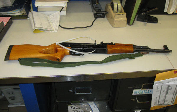 Photo of assault rifle found in Frank Johnson's possession.