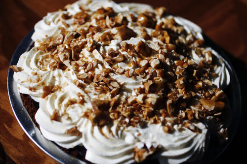 Chocolate cream pie can be purchased at Bittersweet Treats in Pasadena.