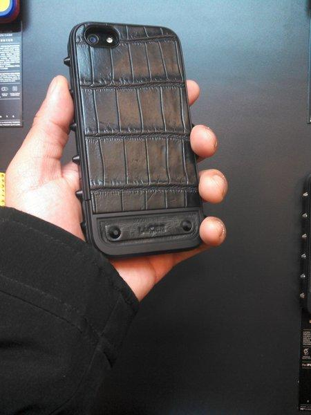 Lucien Elements' $650 crocodile-skin iPhone 5 case was among the most expensive smartphone cases at CES.