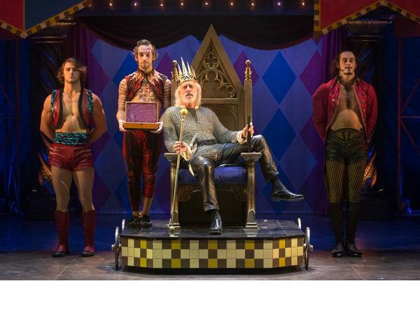 "Terrence Man (center) as Charles in  ""Pippin"""