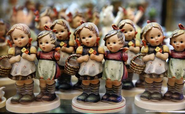 Hummel figurines on display at the Donald Stephens Museum of Hummels in Rosemont.