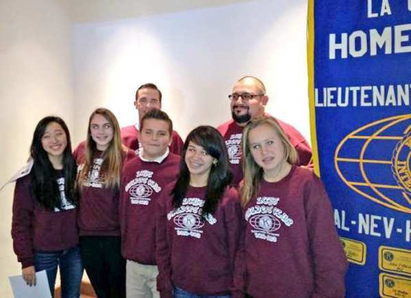 Officers of the La Ca&ntildeada High School Kiwanis Builders Club and their mentors attend a meeting with the sponsoring adult Kiwanis Club.