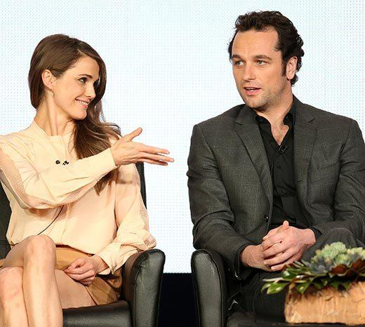 Overheard at 2013 Winter TV Press Tour: Matthew Rhys and Keri Russell describe their married characters relationship.  Rhys: She scares the s*** out of me. Keri Russell: Like all wives do.  Her dance background lent itself perfectly to kicking mens heads through walls.  -- Rhys on his co-stars violent actions on the show
