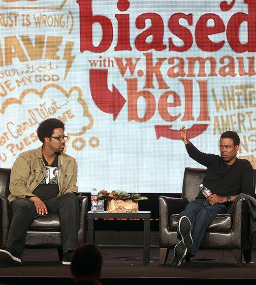 Overheard at 2013 Winter TV Press Tour: Having Chris here as the foul-mouthed Yoda helps a lot.  -- W. Kamau Bell (left) on how executive producer Chris Rock helps the show.