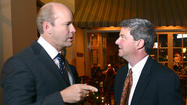 Geoff Bricker said one of the reasons he came to Potomac Walk on Wednesday night to meet newly elected U.S. Rep. John Delaney was so he could ask the Democrat why he left the private sector.