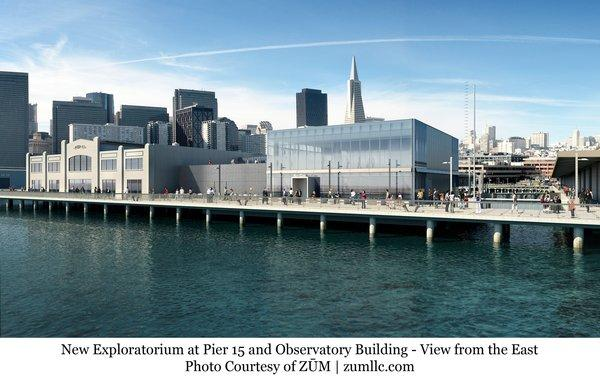 This computer rendering shows the Pier 15 location where San Francisco's Exploratorium is to reopen April 17, after moving from the Presidio area.