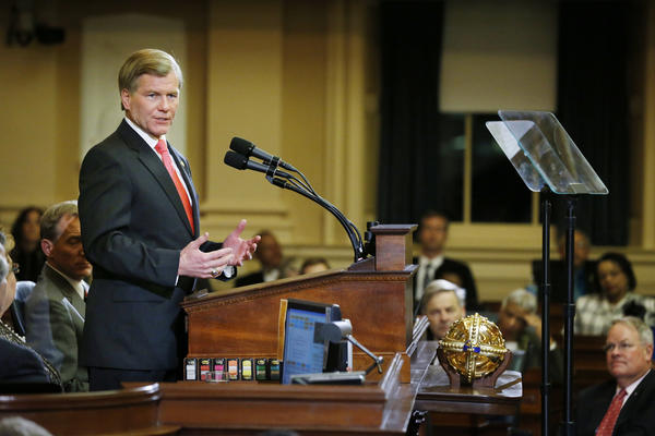 Governor McDonnell gives The State of The Commonwealth address at the beginning of the 2013 General Assembly Wendesday.
