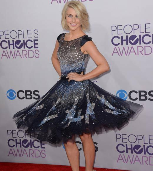 2013 People's Choice Awards: Best and worst moments: Julianne Hough is a beautiful woman -- there were lots of beautiful women on the Peoples Choice red carpet. But we love the moment that this photograph captured. Everyone should be so fun on the carpet!   --Andrea Reiher, Zap2it