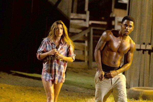 "Tania Raymondei and Trey Songz star in ""Texas Chainsaw 3D."""