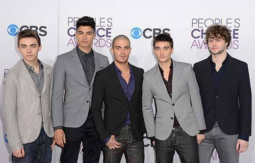 People's Choice Awards 2013: The Red Carpet: Nathan Sykes, Siva Kaneswaran, Max George, Tom Parker and Jay McGuiness of The Wanted