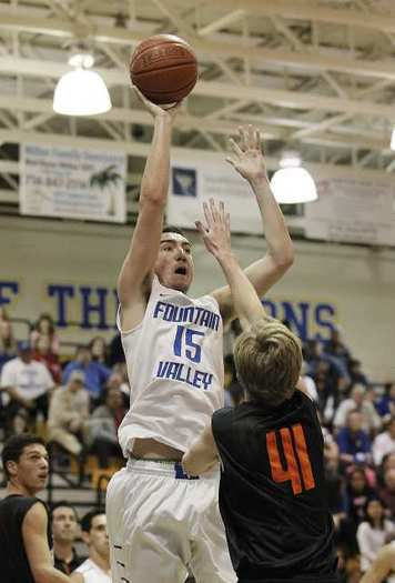 Fountain Valley's Jackson Gatlin scored a game-high 25 points against Huntington Beach.