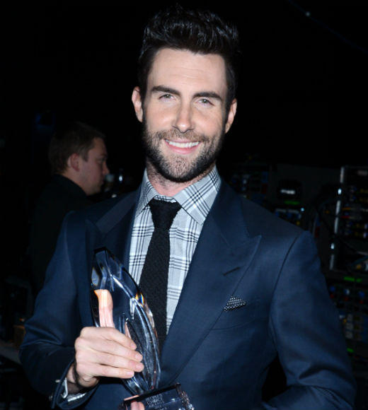 2013 People's Choice Awards: Best and worst moments: Adam Levine was speechless when he took the stage to accept the award for Favorite Band. Turns out the Maroon5 frontman was a little intimidated by a certain hot young superstar. God, Taylor Swift was super charming, Levine said as he fumbled for words. I was trying to think of something to say. She said, This always happens. Thats genius by the way! Damn you, Swift!   --Geoff Berkshire, Zap2it
