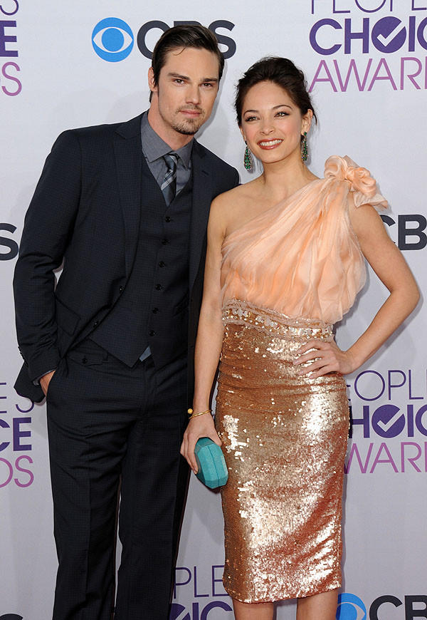 Actors Jay Ryan, left, and Kristin Kreuk