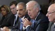 Biden pledges urgent Obama action on gun control