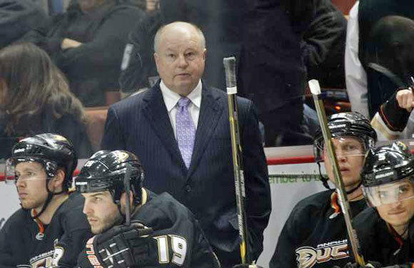 Bruce Boudreau took over as coach of the Ducks when the team was 7-13-4. They went 27-23-8 under his direction.
