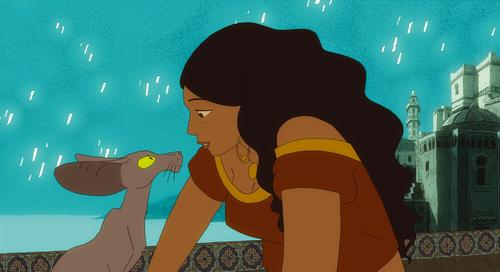 In this animated film set in 1930s Algeria, a widowed rabbi engages in philosophical debates with his sardonic talking cat and searches for a lost Ethiopian city. With the voices of Francois Morel, Maurice Benichou and Hafsia Herzi. Written by Sandrina Jardel and Joann Sfar. Directed by Sfar and Antoine Delesvaux. In French with English subtitles.