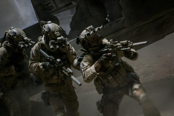 In the darkest hour of the night, elite Navy SEALs raid Osama Bin Laden's compound in Columbia Pictures' ultra realistic new thriller from director Kathryn Bigelow, about the greatest manhunt in history.