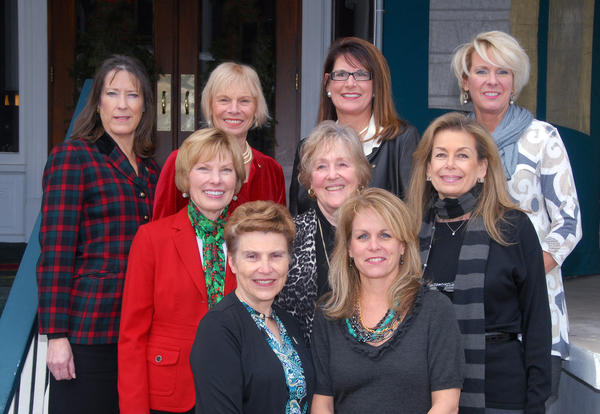 Seen here are some female members of Petoskey Rotary (back frow from left) Anne McDevitt, Jane Millar, Chris Etienne, Dianne Litzenburger. (Center from left) Jean Frentz, Ruth Bellissimo, BJ Shawn. (Front row from left) Christine Hammond and Liz Ahrens.