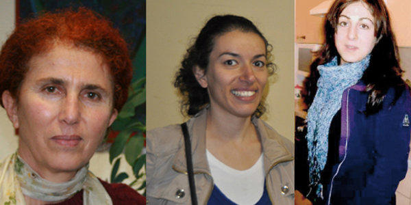 Three female Kurdish activists were found shot dead in Paris early Thursday, including Sakine Cansiz, left, a co-founder of the militant PKK organization. The others were Fidan Dogan, center, and Leyla Soylemez, right.