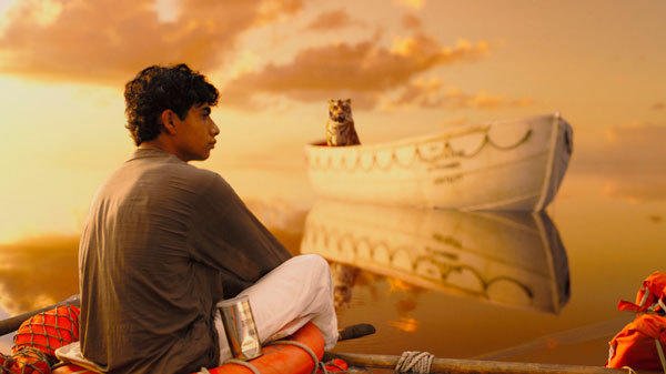 "Actor Suraj Sharma is shown in a scene from the film ""Life of Pi"" in this publicity photo."