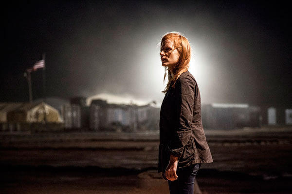 "Actress Jessica Chastain is shown in a scene from the film ""Zero Dark Thirty"" in this publicity photo."