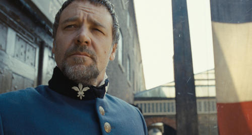 Russell Crowe as the dogged French policeman Javert.