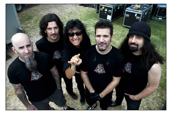 Anthrax, minus departed guitarist Tob Caggiano (right), will be at House of Blues on April 12.
