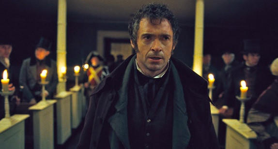 "Hugh Jackman in a scene from the movie version of ""Les Miserables."""