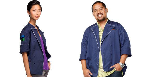 """Kristen Kish and Sheldon Simeon from Bravo's """"Top Chef."""""""