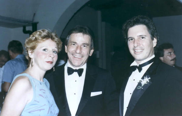 June Keith, Richard Heyman's Assistant, standing with Joe Liszka and Peter Ilchuck, two of the founding members of the Key West Business Guild. Photo courtesy of the Richard Heyman Archive- Cornell University.