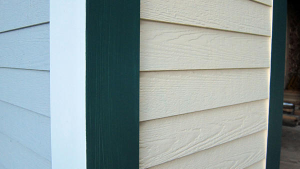 This handsome siding is not wood. Its made primarily with Portland cement with tiny wood fibers as a binder.