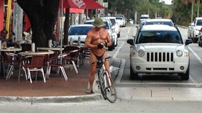 Coconut Grove in a thong