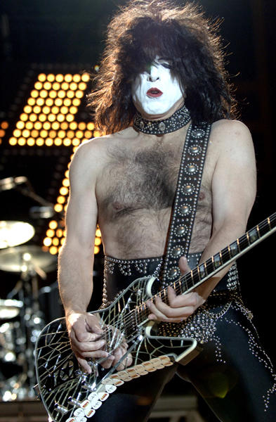 "Kiss's <a class=""taxInlineTagLink"" id=""PEPLT006283"" title=""Paul Stanley"" href=""/topic/politics/paul-stanley-PEPLT006283.topic"">Paul Stanley</a> makes his guitar scream for noise and the ladies scream for his chest hair. The rock star turns 59 today."