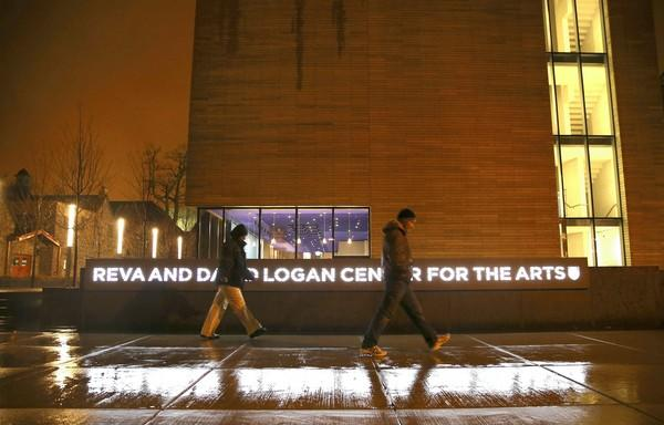 Exterior of the Logan Center for the Arts on the campus of the University of Chicago.
