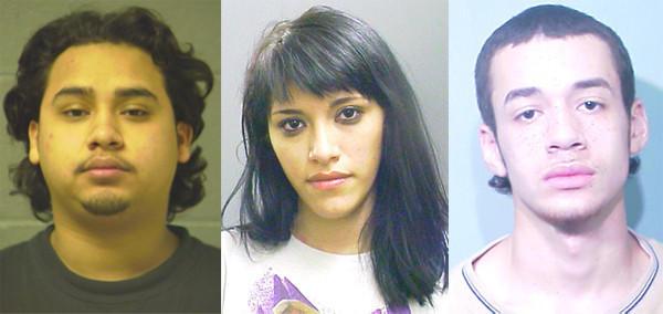 Jose Guerra, 19, his sister, Gabriela Contreras, 21, and Estevan Rosario, 17. Chicago Police photos