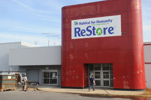 Exterior of Habitat for Humanity Lehigh Valley's retail store, Habitat Lehigh Valley ReStore at 1053 Grape Street in Whitehall inside part of the former Circuit City. When it opens the store will offer customers used/new items for their homes at bargain prices and benefit Habitat for Humanity.