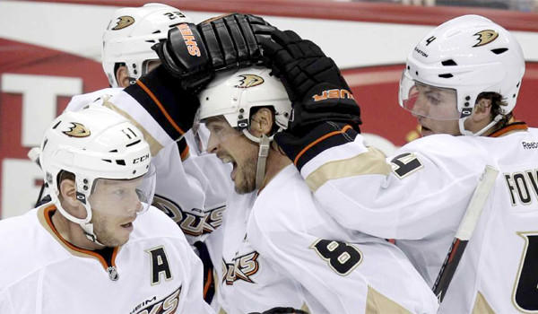 "Ducks veteran Teemu Selanne said the ""guys have taken care of themselves and I think we'll be ready to go"" at the team's first informal practice before the season begins on Jan. 19."