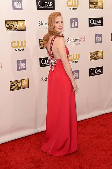 Critics' Choice Awards 2013: Red Carpet Arrivals: Jessica Chastain