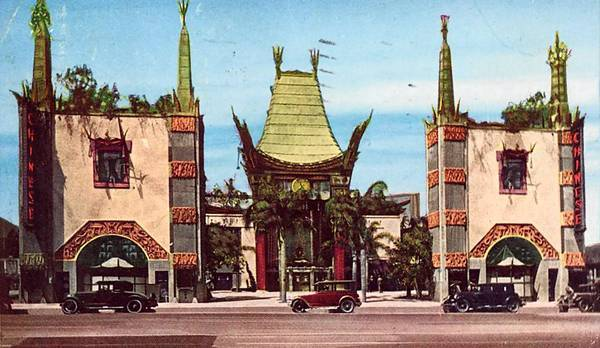 An early postcard shows the front of the 85-year-old Grauman's Chinese Theatre. The Chinese firm TCL has paid more than $5 million for the naming rights to the theater.