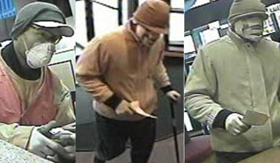 FBI: Man robs bank for second time in two months. FBI photos