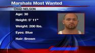 SPRINGFIELD, Mo. -- Chad Oliver Nelson: U.S. marshals say he's a dangerous man. Convicted of numerous crimes, including federal firearms violations, he was allowed to walk out of a halfway house. Now, deputies need the public's help to find him.