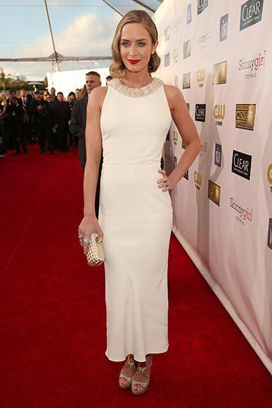 Critics' Choice Awards 2013: Red Carpet Arrivals: Emily Blunt