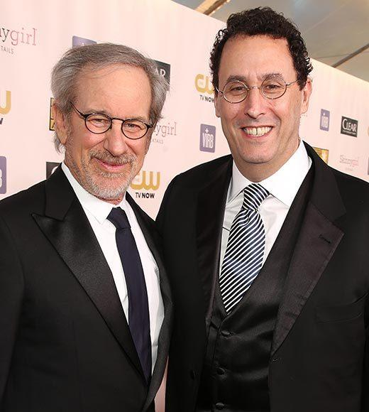 Critics' Choice Awards 2013: Red Carpet Arrivals: Steven Spielberg; Tony Kushner