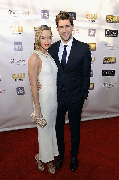 Critics' Choice Awards 2013: Red Carpet Arrivals: Emily Blunt; John Krasinski