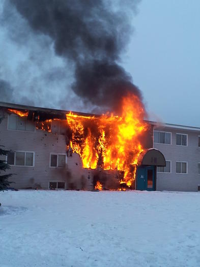AFD Says Government Hill Apartment Fire Under Control