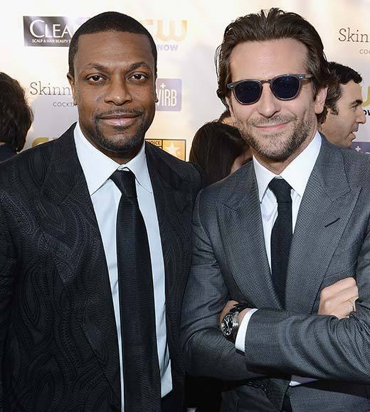 Critics' Choice Awards 2013: Red Carpet Arrivals: Chris Tucker; Bradley Cooper