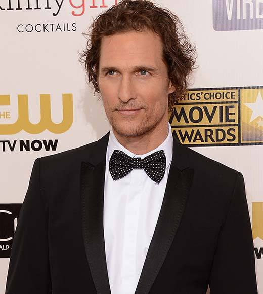 Critics' Choice Awards 2013: Red Carpet Arrivals: Matthew McConaughey